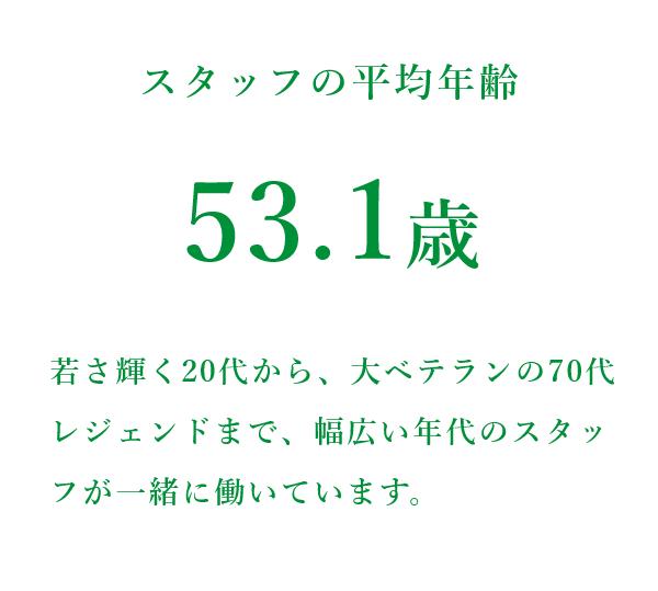 株式会社ワイ・エス・メディア スタッフの平均年齢 53.1歳